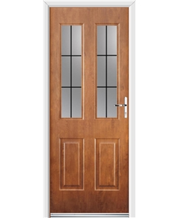 Ultimate Jacobean Rockdoor in Light Oak with Square Lead