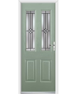 Ultimate Jacobean Rockdoor in Chartwell Green with Summit Glazing