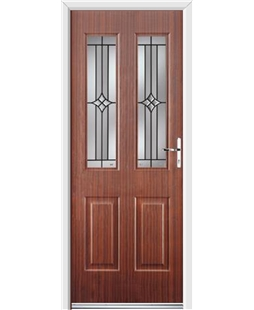 Ultimate Jacobean Rockdoor in Mahogany with Summit