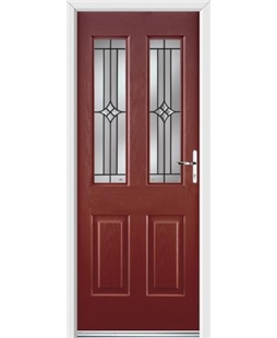 Ultimate Jacobean Rockdoor in Ruby Red with Summit