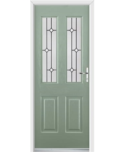 Ultimate Jacobean Rockdoor in Chartwell Green with White Diamonds