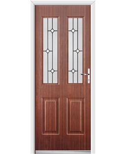 Ultimate Jacobean Rockdoor in Mahogany with White Diamonds