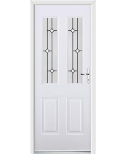 Ultimate Jacobean Rockdoor in White with White Diamonds
