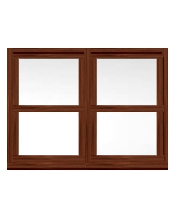 Surrey uPVC Sliding Sash Window in Rosewood