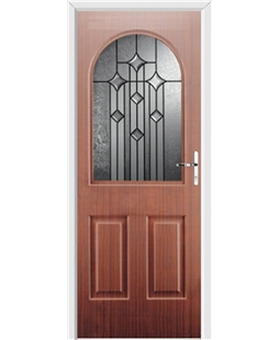 Ultimate Kentucky Rockdoor in Mahogany with Aquarius Glazing