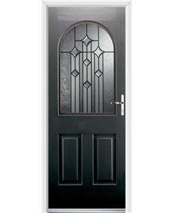 Ultimate Kentucky Rockdoor in Onyx Black with Aquarius Glazing