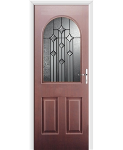 Ultimate Kentucky Rockdoor in Rosewood with Aquarius Glazing