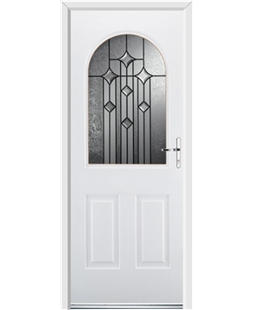 Ultimate Kentucky Rockdoor in White with Aquarius Glazing