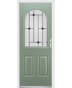 Ultimate Kentucky Rockdoor in Chartwell Green with Black Diamonds