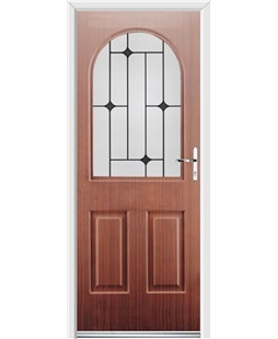 Ultimate Kentucky Rockdoor in Mahogany with Black Diamonds