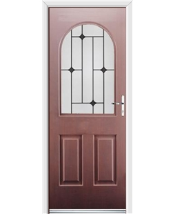 Ultimate Kentucky Rockdoor in Rosewood with Black Diamonds
