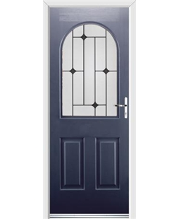 Ultimate Kentucky Rockdoor in Sapphire Blue with Black Diamonds