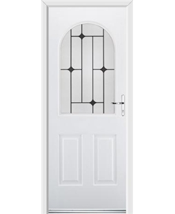 Ultimate Kentucky Rockdoor in White with Black Diamonds