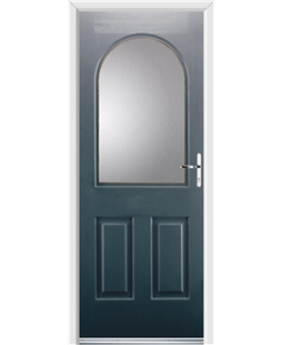 Ultimate Kentucky Rockdoor in Anthracite Grey with Glazing