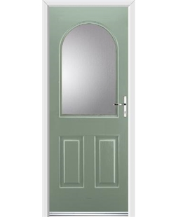 Ultimate Kentucky Rockdoor in Chartwell Green with Glazing