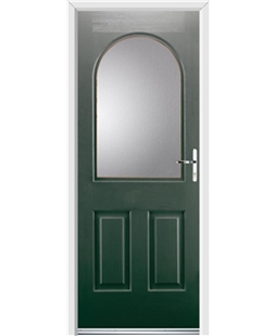 Ultimate Kentucky Rockdoor in Emerald Green with Glazing