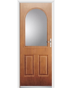 Ultimate Kentucky Rockdoor in Light Oak with Glazing