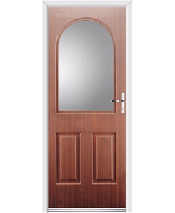 Ultimate Kentucky Rockdoor in Mahogany with Glazing