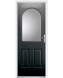 Ultimate Kentucky Rockdoor in Onyx Black with Glazing