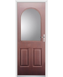 Ultimate Kentucky Rockdoor in Rosewood with Glazing