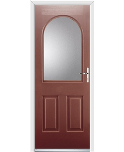 Ultimate Kentucky Rockdoor in Ruby Red with Glazing