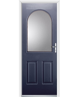 Ultimate Kentucky Rockdoor in Sapphire Blue with Glazing