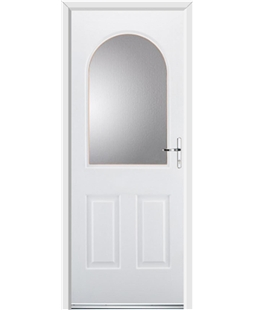 Ultimate Kentucky Rockdoor in White with Glazing