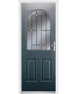 Ultimate Kentucky Rockdoor in Anthracite Grey with Crystal Bevel