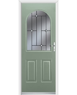 Ultimate Kentucky Rockdoor in Chartwell Green with Crystal Bevel