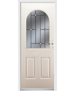 Ultimate Kentucky Rockdoor in Cream with Crystal Bevel