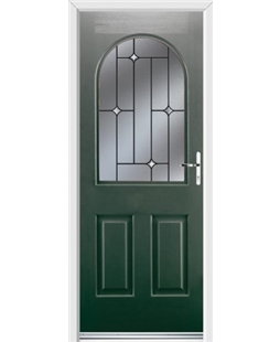 Ultimate Kentucky Rockdoor in Emerald Green with Crystal Bevel
