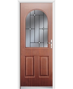 Ultimate Kentucky Rockdoor in Mahogany with Crystal Bevel
