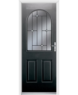 Ultimate Kentucky Rockdoor in Onyx Black with Crystal Bevel