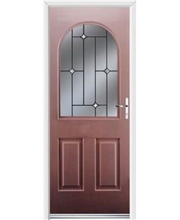 Ultimate Kentucky Rockdoor in Rosewood with Crystal Bevel