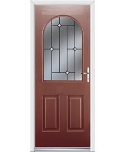 Ultimate Kentucky Rockdoor in Ruby Red with Crystal Bevel