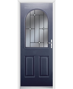 Ultimate Kentucky Rockdoor in Sapphire Blue with Crystal Bevel