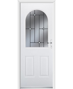 Ultimate Kentucky Rockdoor in White with Crystal Bevel