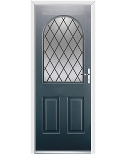 Ultimate Kentucky Rockdoor in Anthracite Grey with Diamond Lead