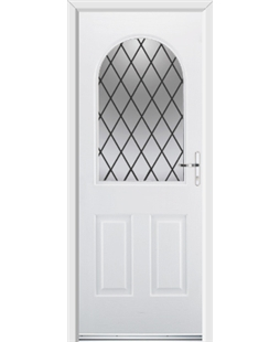 Ultimate Kentucky Rockdoor in Blue White with Diamond Lead