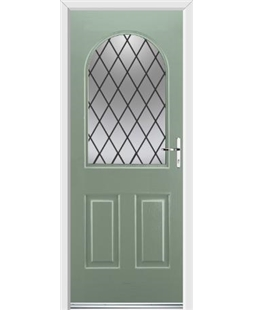 Ultimate Kentucky Rockdoor in Chartwell Green with Diamond Lead