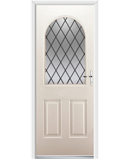 Ultimate Kentucky Rockdoor in Cream with Diamond Lead