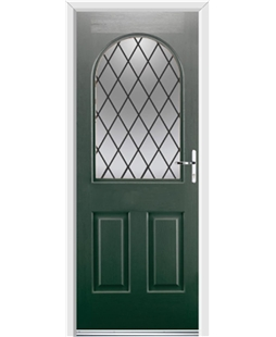 Ultimate Kentucky Rockdoor in Emerald Green with Diamond Lead