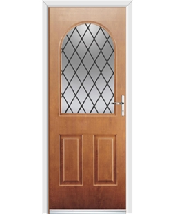Ultimate Kentucky Rockdoor in Light Oak with Diamond Lead