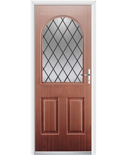 Ultimate Kentucky Rockdoor in Mahogany with Diamond Lead