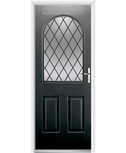 Ultimate Kentucky Rockdoor in Onyx Black with Diamond Lead