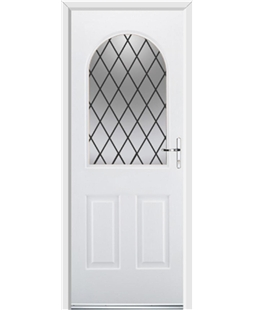 Ultimate Kentucky Rockdoor in White with Diamond Lead