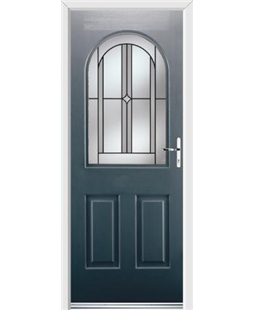 Ultimate Kentucky Rockdoor in Anthracite Grey with Ellipse Glazing