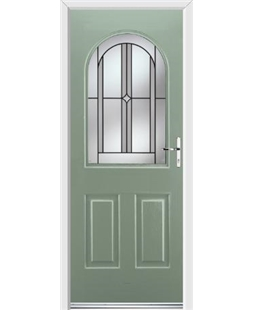 Ultimate Kentucky Rockdoor in Chartwell Green with Ellipse Glazing