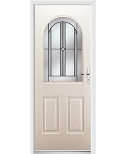Ultimate Kentucky Rockdoor in Cream with Ellipse Glazing