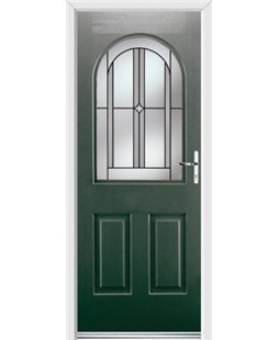 Ultimate Kentucky Rockdoor in Emerald Green with Ellipse Glazing